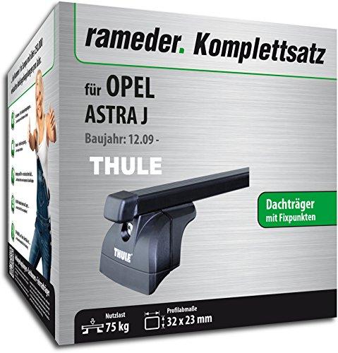 Rameder Komplettsatz, Dachträger SquareBar für Opel ASTRA J (116154-08261-1)