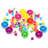 Gazechimp 84 Pedazos de Trivial Pursuit Juego Piezas Pie Wedges para Matemáticas Fracciones...
