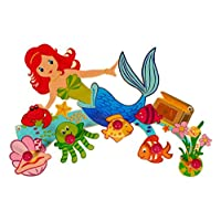 Hess Wooden Wardrobe Baby Toy, Mermaid, Multi-Color