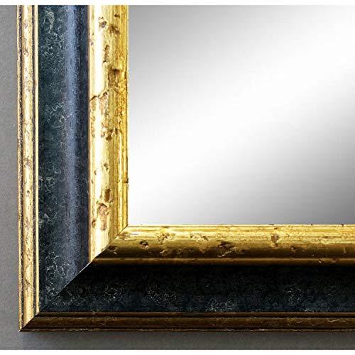 Online Galerie Bingold Spiegel Wandspiegel Badspiegel Flurspiegel Garderobenspiegel - Über 200 Größen - Genua Schwarz Gold 4,3 - Außenmaß des Spiegels 40 x 60 - Wunschmaße auf Anfrage - Antik, Barock