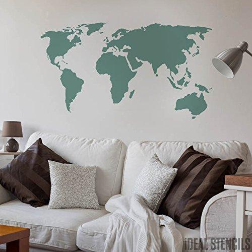 carte du monde dcor maison pochoir peinture murs fabrics meuble sur mesure dcoration pochoir semi transparent pochoi
