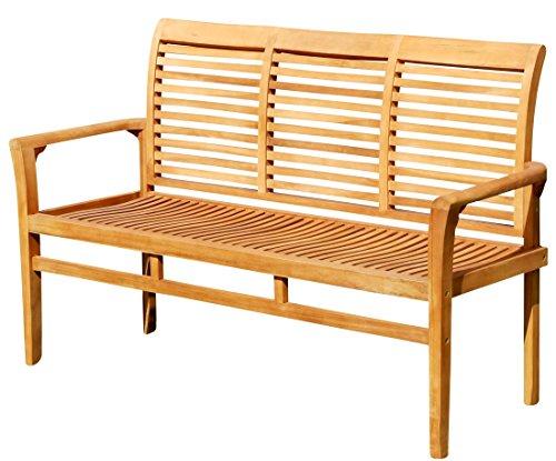 ASS Teak Design Gartenbank 150cm Parkbank Sitzbank 3-Sitzer Bank Gartenmöbel Holz sehr ro