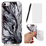 Lotuslnn Hülle iPhone 5S,Hülle iPhone 5,Hülle iPhone SE (4.0 Zoll) TPU Ultra Slim Design pour iPhone 5 / 5s / SE (Etui+ Stylus Pen + Screen Protector)-Ink