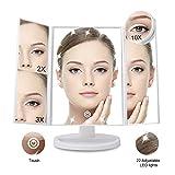 McDou Espejo de maquillaje de Magnifying con 21 luces LED Espejo de vanidad de Smart Touch d...