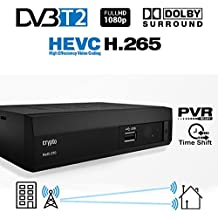 Crypto Redi 270P DVB-T2 HEVC H.265 Sintonizador Receptor y Grabador TDT Full HD 1080P con Dolby Reproductor multimedia PVR