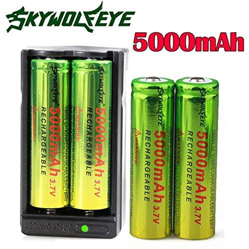 Preisvergleich Produktbild Batterie OyedensNeue 4pcs 3.7v 5000mah 18650 Nachladbare Li-Ionbatterie + Doppelaufladeeinheit