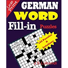GERMAN Word Fill-in Puzzles: Volume 1