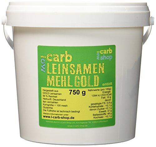 -carb GOLD Leinsamenmehl (entölt), 750g