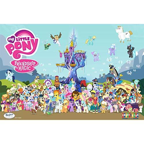 Unbekannt WYF Holzpuzzles, Cartoon-Puzzles, Mein kleines Pony, Pädagogisches Kinderspielzeug, 300.500.1000 Teile Für Kinder Erwachsene P629 (Color : A, Size : 500pc) - 300 New York Puzzle Teile