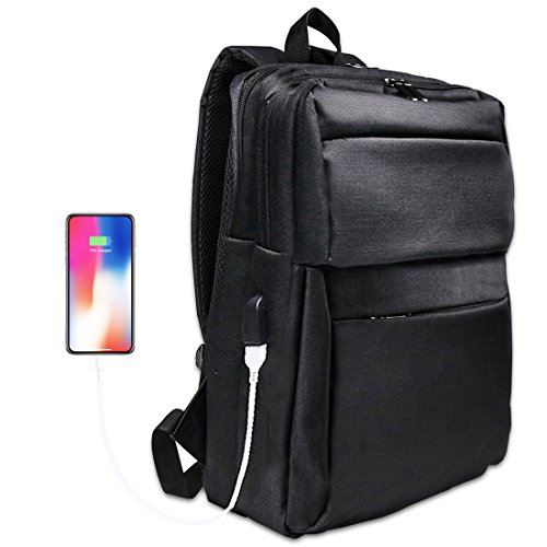 Laptop Backpack, Rucksack for Mens and Women, Anti-Theft USB Charging Backpack, Fits 15.6