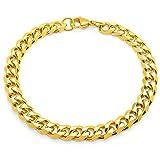SoulCats® Armband Armkette Panzerkette Königskette Edelstahl gold, Größe:8 mm, Auswahl:Armband 22 cm, Farbe:gold