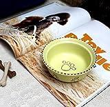LIUQIAN Arts de la Table Bol Petit Chien en céramique pour Animaux de Compagnie pour Animaux de Compagnie de Disque ustensiles-Distributeur