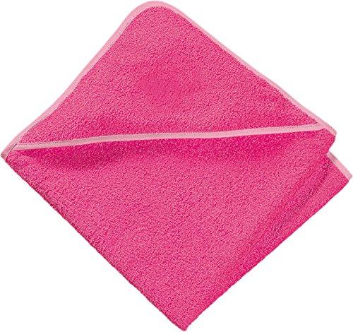 Baby Butt Kapuzenbadetuch Frottier pink Größe 80x80 cm