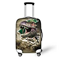 HUGS IDEA 18/20/24/28 Inch 3D Animals Travel Luggage Protective Suitcase Cover