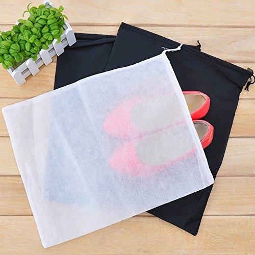 Dealglad Lote de 10 bolsas para transportar o almacenar zapatos (material sintético, protección contra el polvo), color blanco
