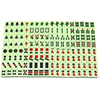 Hilai Mini Mahjong Tile Set de Viaje Juego de Mesa Chino Tradicional Mahjong portátil tamaño y Ligero Mahjong