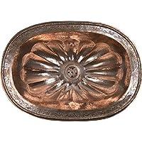 Moulded ovale rosso stile marocchino Handmade rame bagno lavandino–grande ovale sagomato, martellato e incisione–L49W39H16cm–Clearance Last