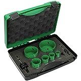 Hitachi tools - Estuche electricista -2 sierra corona+adaptador/a