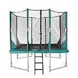 Hi-Flyer Kinder Trampolin mit passendem Sicherheitsnetz Plus Leiter, Grün, 310 x 232 cm