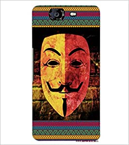 PrintDhaba Vendata Mask D-5686 Back Case Cover for MICROMAX A350 CANVAS KNIGHT (Multi-Coloured)
