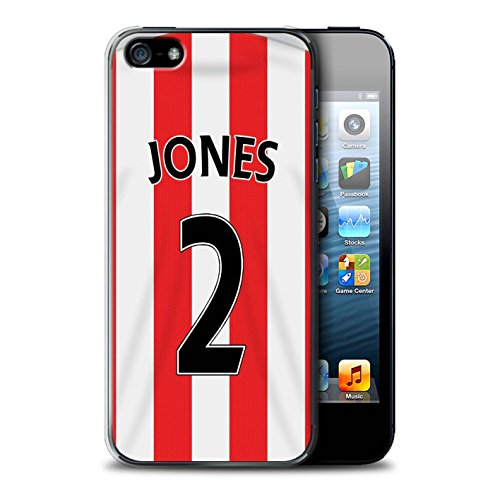 Offiziell Sunderland AFC Hülle / Case für Apple iPhone SE / Pack 24pcs Muster / SAFC Trikot Home 15/16 Kollektion Jones