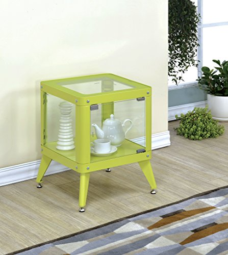Furniture of America Möbel von Amerika essor Moderner Glas Schrank, klein, Apple grün (Amerika Schrank)