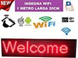 señal luminosa LED Wifi Rojo escrita personalizada deslizante tabla Tienda 100x 20cm