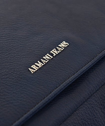 Armani Jeans Herren Faux Leder Umhängetasche Blau Blau