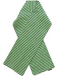 Maxomorra - langer Schal - Biobaumwolle - Streifen, grün