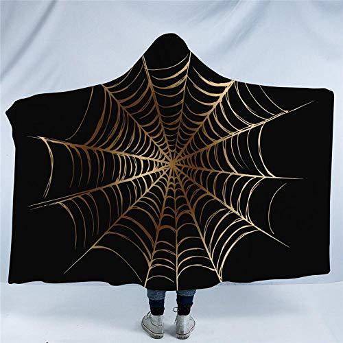 t Goldene und Schwarze Jungen Sherpa Fleece Microfaser Soft Throw Blanket Spiderweb Thin Quilt ()
