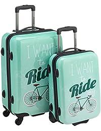 Saxoline  Juegos de maletas, 67 cm, 82 L, Verde