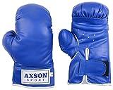 #4: Axson Unisex PVC Leather Boxing Gloves Blue