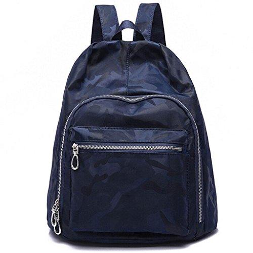 Z&YF zaino Zaino studente Borsa da viaggio Borsa delle signore Sacchetto di chiusura lampo borsetta Zaino in nylon , black Blue