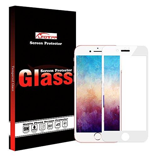 iPhone 7 Schutzfolie , LFOTPP Full Coverage Panzerglas Schutzfolie für Apple iPhone 7 4,7 Zoll Displayschutzfolie, [3D Touch Compatible] 9H Kratzfest [1-Stück] (weiß)