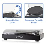 Pyle PLTTB3U Tourne-disque 1 x USB Noir