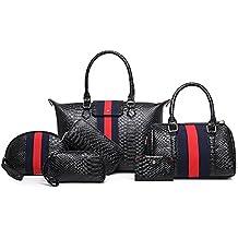 LLXY Bolsas de poliuretano para mujer, 6 piezas, juego de bolso para compras,