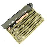 Maximumcatch Alltime Traveller Fliegenfischen Rute-Ultra kompakt für Rucksack 8 Teile 9ft mit Cordura Rohr(Größe: 5/6/8wt) (9' 5wt 8 Teile)