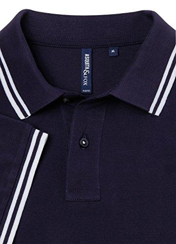 Asquith Fox Herren Poloshirt Purple Heather/Heather Grey