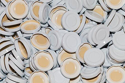 15, 25, 50 oder 75St. Twist-Off-Deckel TO43 mm Verschluss weiß für Glasflaschen Milchflaschen Saftflaschen Deckel für unsere 0.2 / 0.25Liter (25 Stück) (Twist-verschluss)
