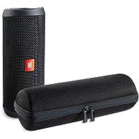 La caja del filtro impermeable del recorrido de AVIDET para llevar a JBL Flip 4 bolsa de alta calidad maletín portátil bolsa de protección del altavoz Bluetooth, conveniente para los cargadores y cable USB (Negro)