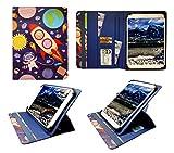 Voyo Q101 Tablet PC 10.1 Inch Tablet Karikatur Astronauten Universal 360 Grad Wallet Schutzhülle Folio mit Kartensteckplätzen ( 9 - 10 zoll ) von Sweet Tech