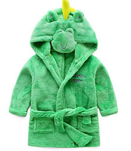 YaoDgFa Baby Bademäntel Kinder Mädchen Jungen Cosplay Kleinkind Schlafanzüge Morgenmantel Kapuze Badetuch Flanell Fleece 1 2 3 4 5 Jahr