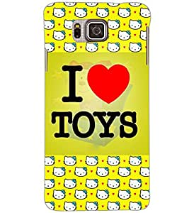 SAMSUNG GALAXY ALPHA I LOVE TOYS Back Cover by PRINTSWAG