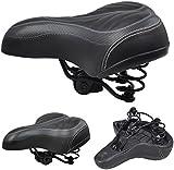 tinkertonk Wide Big Bum Bike Bicycle Gel Cruiser Extra Comfort Sporty Soft Pad Saddle Seat