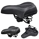 tinkertonk Wide Big Bum Bike Bicycle Gel Cruiser Extra Comfort Sporty Soft Pad Saddle Seat