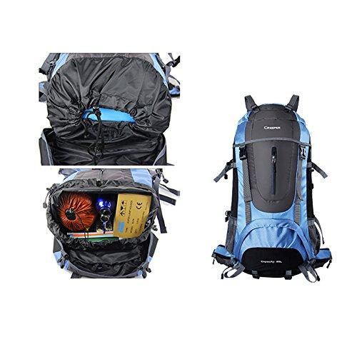 YAAGLE Professional Sporttasche Bergsteigen Taschen 60 L Outdoor Reisetasche Trekkingrucksack Schwarz