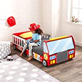 KidKraft 76031 Feuerwehrauto Kinderbett aus Holz für Kleinkinder Möbel für Kinderzimmer Vergleich