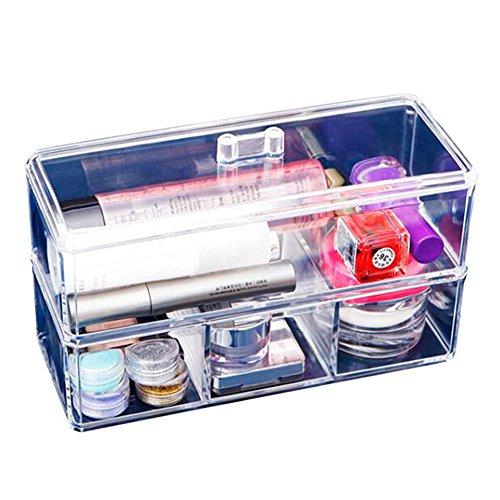 XL® Nuovo design trasparente acrilico storage box di cristallo cosmetici dell'organizzatore caso di trucco cassetto display SF-1172-1