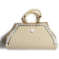 INDIJOY Women's PU Leather Wallet for Women Ladies Purse Handbag Clutch Bags (Cream Colour)