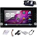 Free Rear Camera+GPS Navi SAT 2015 New 6.2-Inch Double2 DIN In Dash Car DVD Player Touch screen LCD Monitor with DVD/CD/MP3/MP4/USB/SD/AM/FM/RDS Radio/Bluetooth/Stereo/Audio Car Stereo GPS Navigation SAT NAV Car PC Wall Paper exchange HD:800*480 LCD+Windows Win 6 UI Design Free GPS Antenna+Free GPS Map+Free Backup Camera